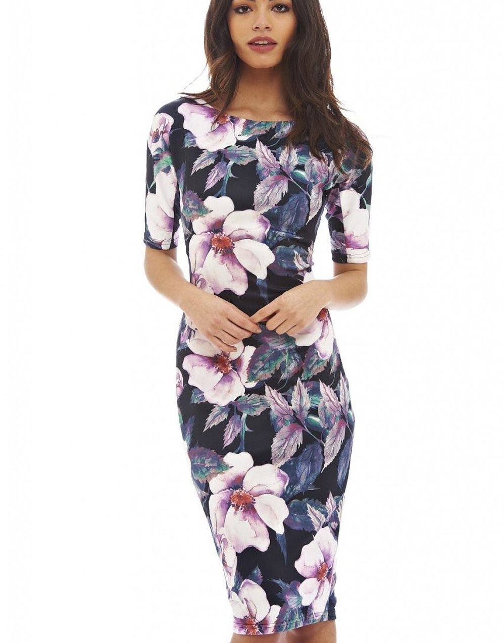 Women Dress Vestidos Free Shipping Designer Elegant Floral